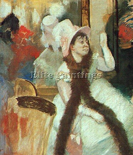 Un Costume D'edgar (PORTRAIT AFTER COSTUME BALL PORTRAIT MADAME DIETZ MONNIN ARTIST PAINTING CANVAS 24x20inch MUSEUM QUALITY)