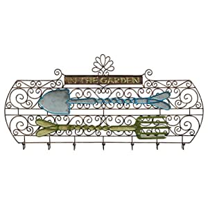 """Praderas Road diseño de caseta de jardín """"en el jardín herramienta de metal gancho de pared, 7ganchos"""