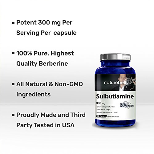 Premium Sulbutiamine 300 mg 60 Capsules Ultra Nootropics Supplements Made in USA