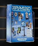 Displays2go 8.5'' x 11'' Slatwall Single Pocket Literature/Magazine Holder, Set of 8, Acrylic (SLW85)