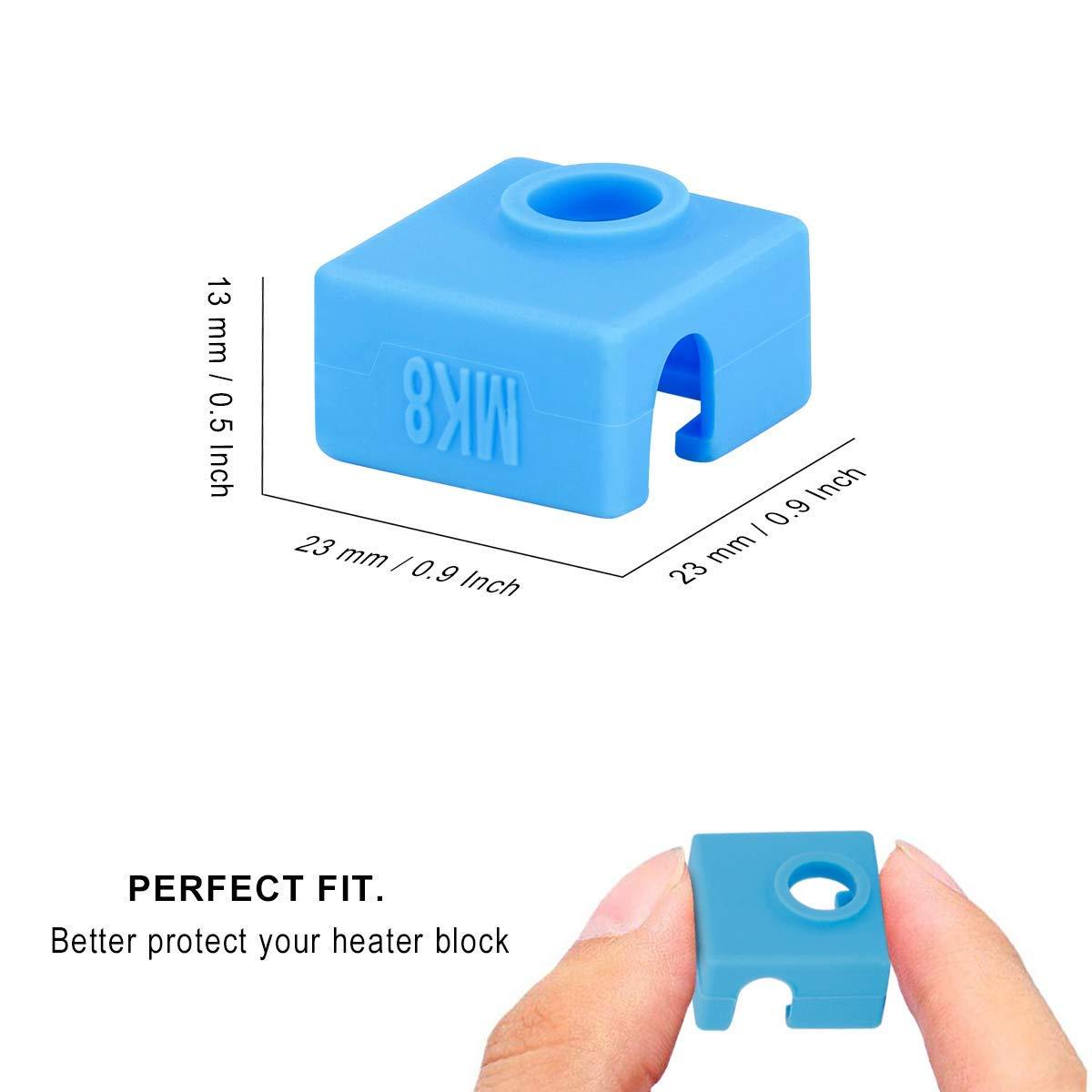 BZ 3D Cartridge Heater bock Silicone Socks V6 Socks for PT100 Heated Block for v6 PT100 hotend Nozzle V6 PT100 Silicone Sock 5PCS