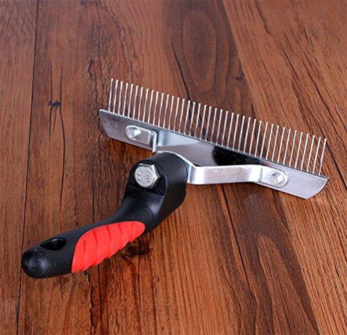 DAN Rake For Dogs,Pet Comb Extra-Large Rake Comb Grooming Brush Deshedding Tool Beauty Comb For Large Pet by DAN (Image #3)
