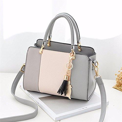 para Negro Mujer CCZUIML Bolso Mano Bag gris de Crossbody qnn0wXRT