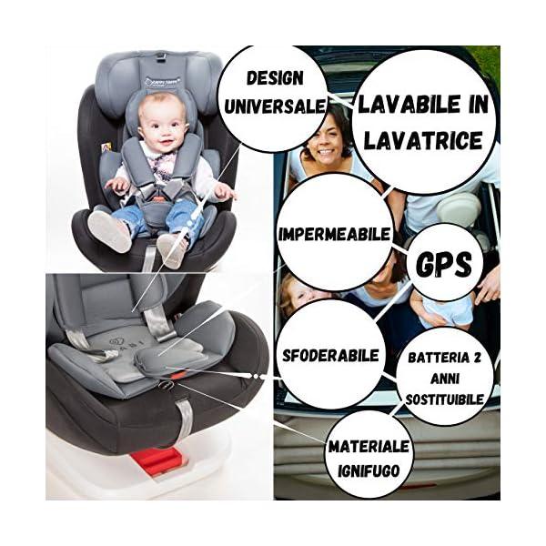 VINCITORE 2020* Dispositivo Anti Abbandono Seggiolino Auto Universale 2.0 Aggiornato con Monitoraggio Costante Fino a 4… 2