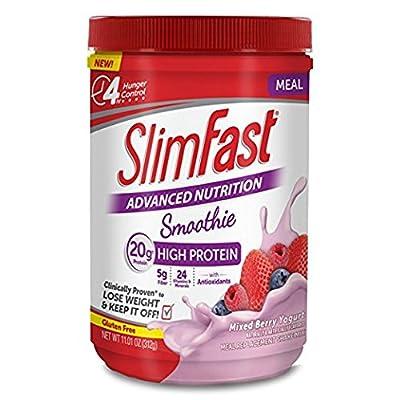 Slim Fast Advanced Nutrition Smoothie, Mixed Berry Yogurt, 11.01 oz (Pack of 2)