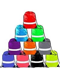 7d2781e889bf Drawstring Backpack - Drawstring Bags Reflective Cinch Sacks String Backpack  Bulk Bag