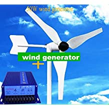 GOWE 5 pcs 50w wind generator /windmill/wind turbine +hydro controller wind solar
