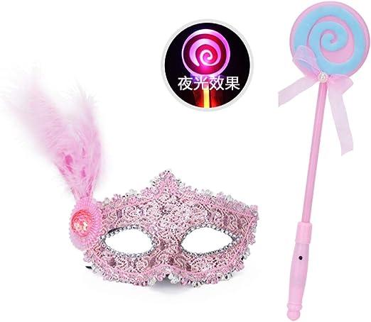 SMAQZ Máscara de graduación - Máscara de niña Princesa, Media Cara ...