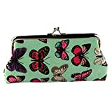 Wallet,toraway Lady Vintage Butterfly Mini Hasp Coin Purse Wallet Clutch Bag (Green)