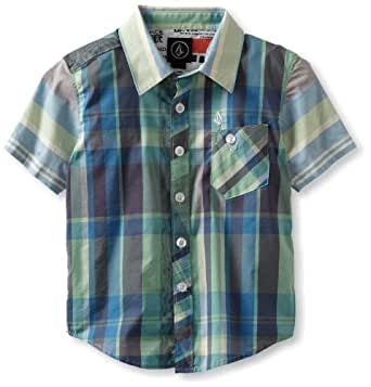 Volcom Little Boys' Lonsway Short Sleeve Little Youth, Green, 2T