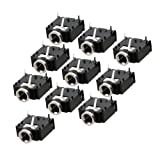 10 Pcs 3 Pin PCB Mount Female 3.5mm Stereo Jack Socket Connector