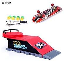 ZYAQ Mini Skate Park Ramp Parts for Tech Deck Fingerboard Finger Skateboard Ultimate Parks Ramp #D