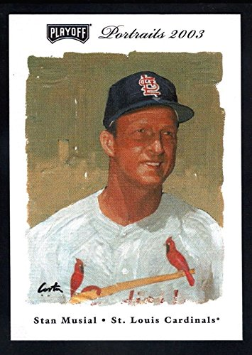 STAN MUSIAL 2003 PLAYOFF PORTRAITS #84 ST LOUIS CARDINALS SP *RARE* $10 - 2003 Playoff Portraits