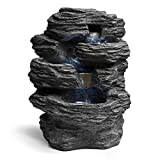 Fountain Table Top, Rock Indoor Modern Decorative Table Fountain, With Led Light