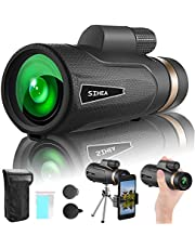 SIHEA 14X65 HD Monocular Telescope for Adults, High Powered Star Monocular Scope with Smartphone Holder & Tripod, Low Light Night Vision & BAK4, for Camping,Birdwatching, Hunting, Hiking