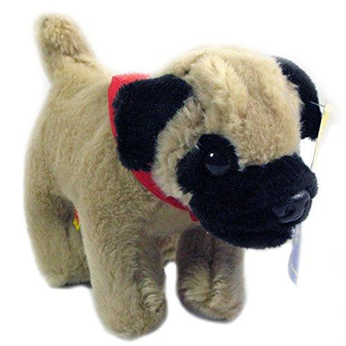 Build A Bear Pug Dog Lil Bearemys Kennel Pals Mini Pug Buddie with Red Scarf