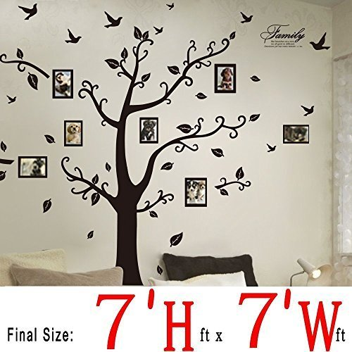 DaGou, Huge 7' Ft(h) X 7' Ft(w) Wall Decals, Memory Tree and Birds, Wall Stickers, Murals