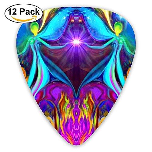 Cool Assorted Colourful Fairy Acoustic Thin Heavy Medium Gauge Guitar Picks Kids 12 Packs Cigar Box Guitar