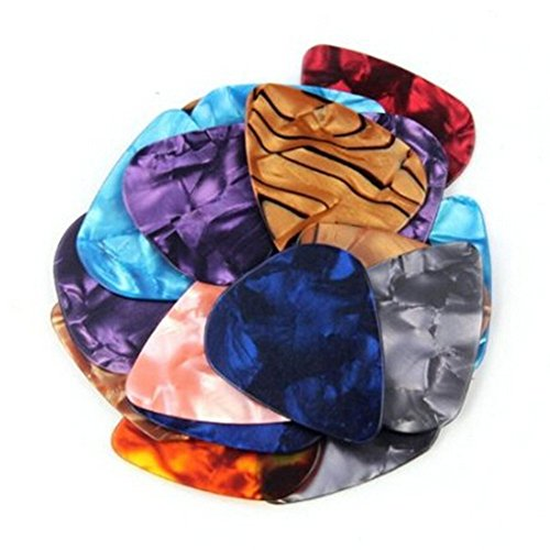 Large Product Image of Yesker ZPS 20-pack 0.46mm Stylish Colorful Celluloid Guitar Picks Plectrums for Guitar Bass