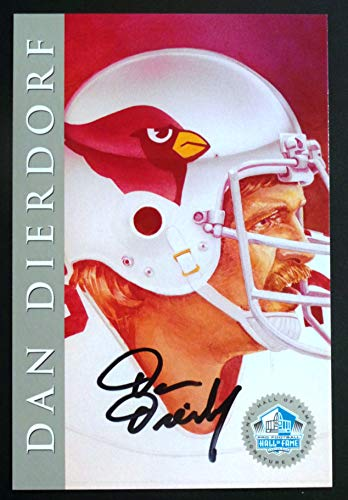 PRO FOOTBALL HALL OF FAME Dan DIerdorf 1998 Platinum Signature Series NFL HOF Signed Autograph Limited Edition Card ()