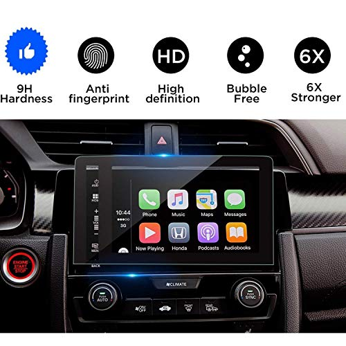 2016-2018 Civic Coupe EX Hatchback 7-Inch Car Navigation Screen Protector,Tempered Glass Infotainment in-Dash Display Touch, Compatible with The EX, EX-L, EX-T,Touring ()