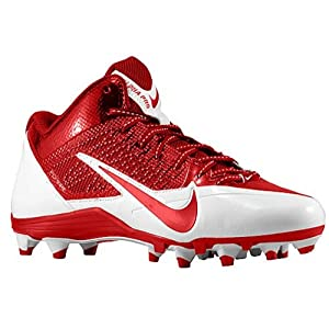 NIKE Mens Alpha Pro TD Football Cleats (15 D(M) US, White/Red Chiefs Color)