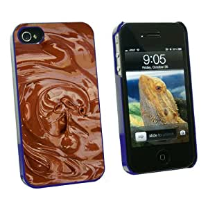 Graphics and More Chocolate Melted - Chocoholic - Snap On Hard Protective Case for Apple iPhone 4 4S - Blue - Carrying Case - Non-Retail Packaging - Blue