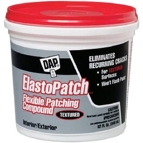 Amazon.com: Dap 7079812290 Elastopatch Textured 02 Gal Raw Building Material, Gallon, Off-White: Home Improvement