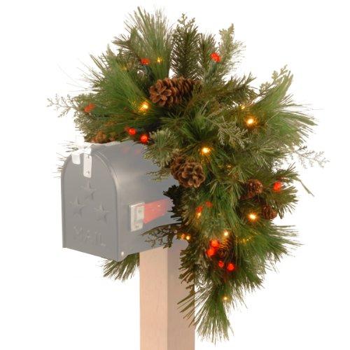 National Tree White Pine Mailbox Swag
