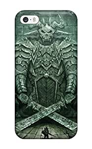 Iphone 5/5s Case Slim [ultra Fit] Warrior Gate Dark Abstract Dark Protective Case Cover