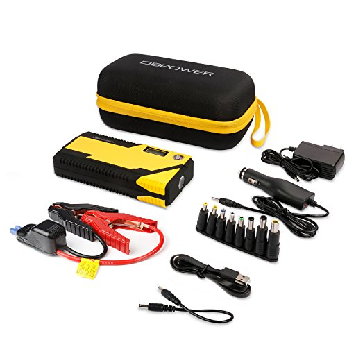 DBPOWER 500A Peak 12000mAh Portable Car Jump Starter Auto Battery Booster, Portable Phone Charger with Smart Charging Port, Compass & LCD Screen and LED Flashlight, for Engines up to 3L Gas and 2.5L D by DBPOWER (Image #6)