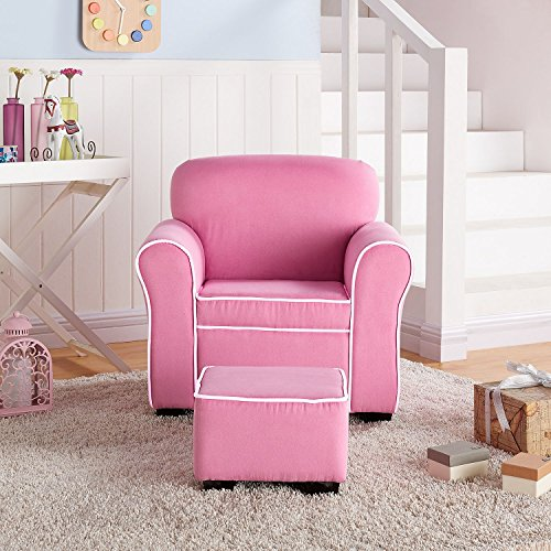 Member's Mark Kids' Chair and Ottoman, Pink by Member's Mark