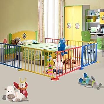 Amazoncom Baby Playpen 6 Panel Colors Wooden Frame Children