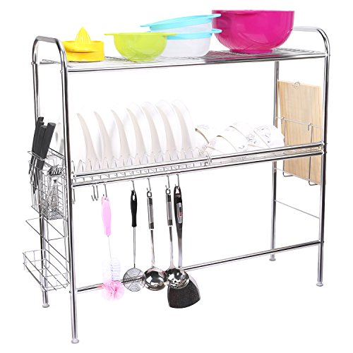 Corodo Stainless Steel Dish Rack, 2-Tier Large Dish Drying R