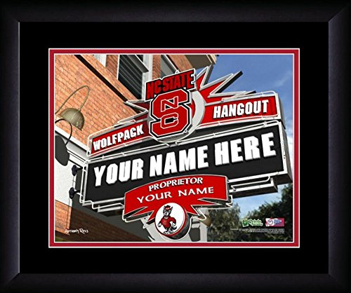 NCAA Personalized Sport Pub Custom Framed Hangout North Carolina State Wolfpack