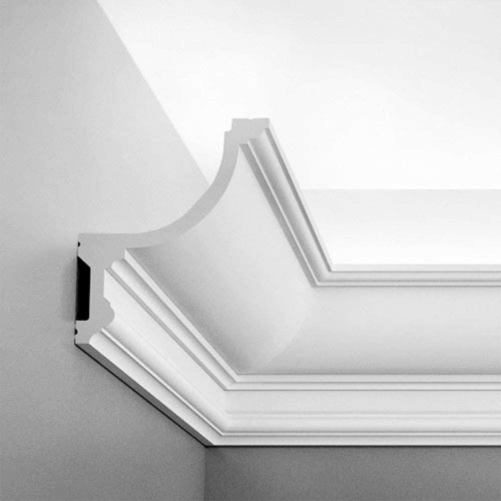 1-1//4 90 H 4-5//8 Proj Orac Decor Multifunctional Moulding DX170 Crown Baseboard Panel or Case Molding Primed Polyurethane L