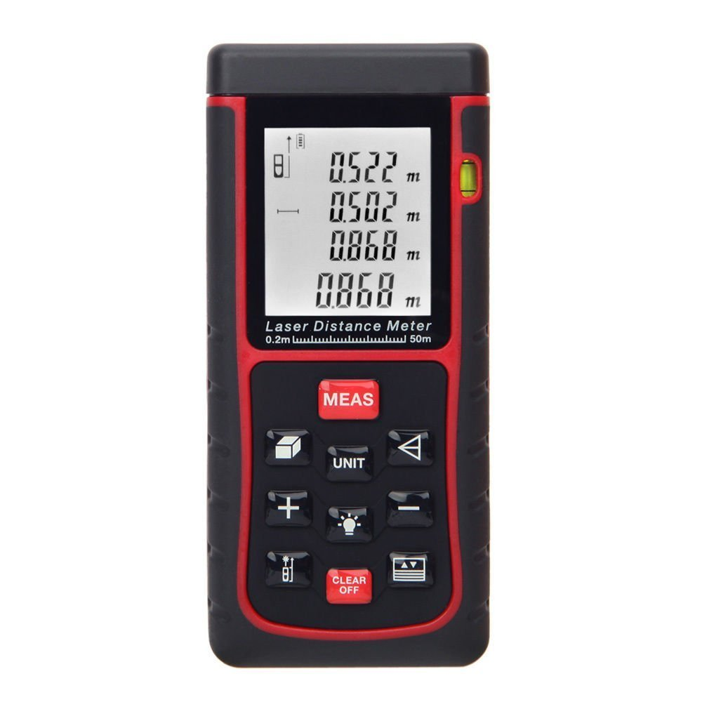 BUYEONLINE 50M/164Ft Digital Laser Distance Meter Range Finder Measure Distance Area Volume by BUYEONLINE (Image #1)