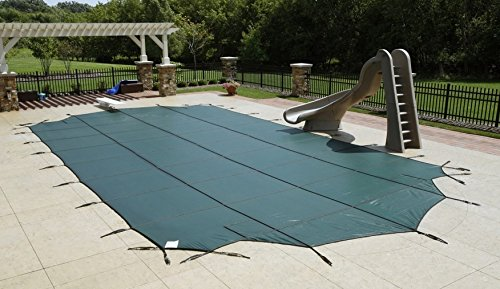 Arctic Armor Mesh Rectangular Safety Cover for 16ft x 34ft In-Ground Pools with 12-Year Warranty Color: Green (WS340G) Arctic Armor Green Mesh