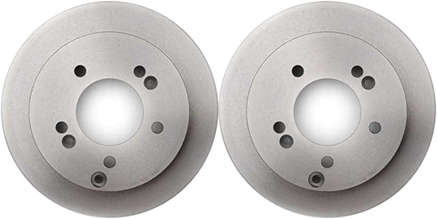 AutoShack R41333PR Pair of 2 Front Driver and Passenger Side Disc Brake Rotors Replacement for 2001 2002 2003 2004 2005 2006 2007 Toyota Highlander
