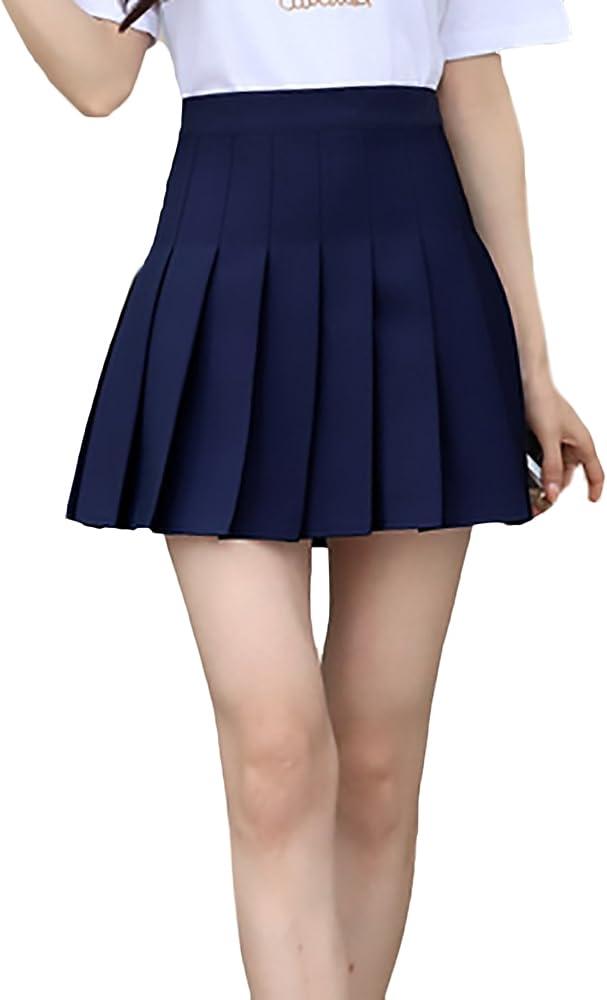 Battercake Faldas Mujer Verano Moda Casual Elegantes Color Sólido ...
