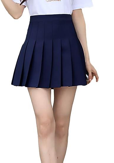 Faldas Mujer Verano Moda Casual Elegantes Color Sólido Cintura ...