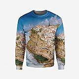 iPrint Men's Crewneck Modern Decor Pullover Sweater
