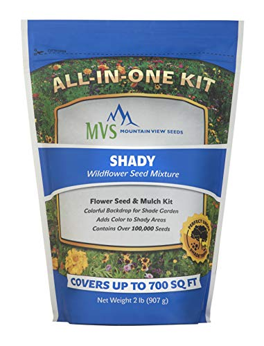 Mountain View Seeds 100571 Shady Wildflowers, Assorted