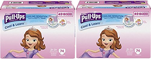 Pull-Ups Learning Designs Training Pants for Girls Gecovq,2Pack (Cool and Learn) 2T-3T, 148 Count