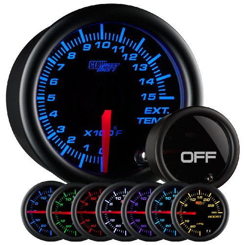 GlowShift Tinted 7 Color 1500 F Pyrometer EGT (Series Pyrometer Kit)
