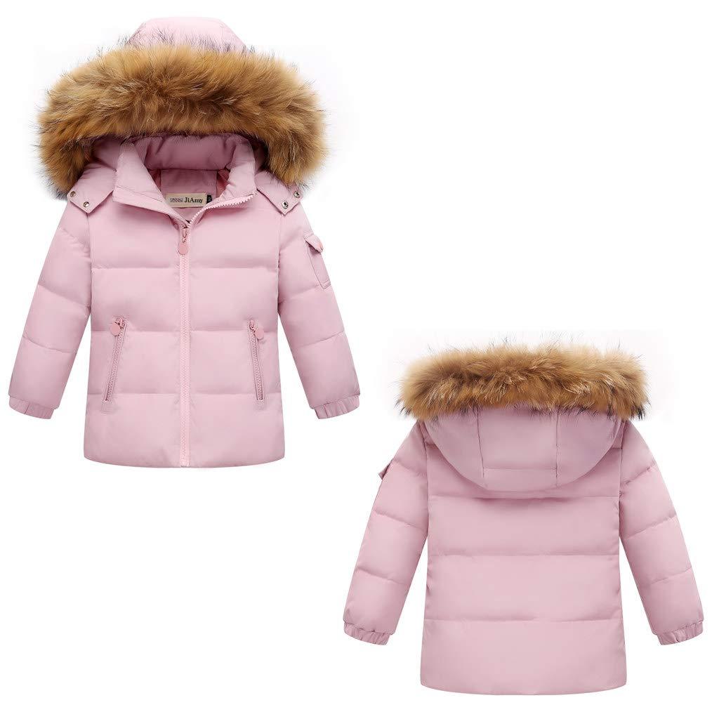 60e8defd0 Amazon.com: Kids Winter Puffer Jacket and Snow Pants 2-Piece Snowsuit  Skisuit Set: Clothing
