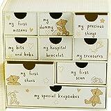 Button Corner Paperwrap Book Baby Keepsake Box With Drawers CG689