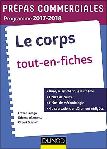 Book Le Corps - Prépas commerciales 2017-2018 -Tout en fiches