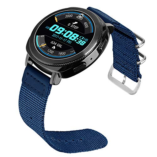 Price comparison product image 20mm Sport Samsung Watch Band,  Nylon Replacement Bracelet Watchband for Sumsung Gear Sport Watch,  Strap for Samsung Gear Sport S4(Blue)