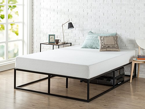 Zinus Modern Studio 14 Inch Platforma Bed Frame, Mattress Foundation with Wood Slat Support, Queen